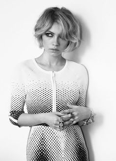 Tavi Gevinson | Russh Magazine - Love this hair - messy, relaxed bob!!