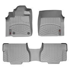 """WeatherTech 464081-460937 Series Grey Front and Rear FloorLiner - FloorLiner(TM) In the quest for the most advanced concept in floor protection, the talented designers and engineers at WeatherTech(R) have worked tirelessly to develop the most advanced floor protection available today! The WeatherTech(R) FloorLiner(TM) accurately and completely lines the interior carpet giving """"absolute interior protection(TM)""""! The WeatherTech(R) FloorLiner(TM) lines the interior carpet up the front, back…"""