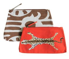 Cute patterned pouches.
