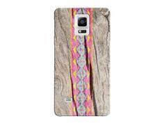 Vintage Natural Wood Grain Geometric Phone Case