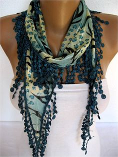 ON SALE  Scarf Cotton Scarf Gift Scarves Scarf with by SmyrnaShop, $7.50