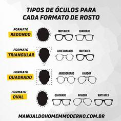 Qual é o tipo de óculos de grau para o seu formato de rosto? Glasses For Face Shape, Mens Glasses Frames, Men Style Tips, Personal Stylist, Face Shapes, Stylish Men, Style Guides, Mens Fashion, Fashion Tips