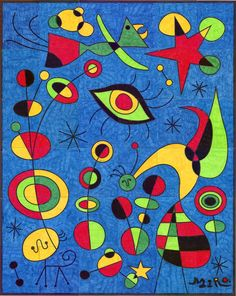 MIXED MEDIA INSPIRATION, JOAN MIRO, INSPIRATION IMAGE: