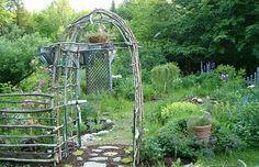 twig trellis   Twig arbors and fences - Maine Gardening Forum - GardenWeb