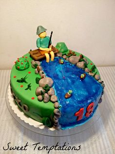 Fishing - Birthday cake for a fishing fan ;)
