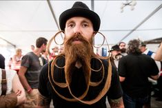 Hundreds of bearded men flooded the small Austrian village of Leogang on Oct. The reason behind their gathering is the 2015 World Beard and Moustache Championships. Men were competing in 3 categories: moustache, partial beard and full beard. Beards And Mustaches, Moustaches, Mustache Grooming, Beard No Mustache, Men's Grooming, Full Beard, Epic Beard, Beard Competition, Austria