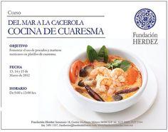 Del Mar a la Cacerola, Cocina de Cuaresma / Fundación Hérdez / DF
