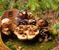 Купить Из жизни лесных бабок 2. Песня. - коричневый, лесная тема, лесная сказка