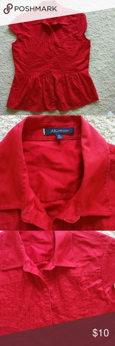 Anne Klein Shirt size 10 Preowned Cute shirt 97% Polyester  3% Spandex Anne Klein Tops Button Down Shirts