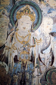Fresco of Bodhisattva ~ Dunhuang Caves, China
