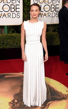 Alicia Vikander in Louis Vuitton from Best Dressed at 2016 Golden Globes | E! Online