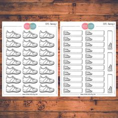 One or two sheets of Running stickers!  These planner stickers are designed to fit various planners including but not limited to Erin Condren, Happy Planner, Day Designer, Inkwell, Plum Paper and Filofax!  - Each sheet is approximately 5.7 x 4.3 inches (or 14.5 x 11 cm). - All stickers are printed on non-removable matte white adhesive paper. - Stickers are kiss-cut for easy removal. - All artwork is hand drawn and created by Calime Create. Please let me know if you need customization!  Thank…