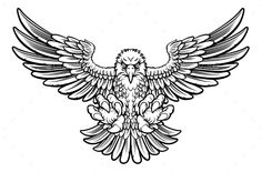 Illustration about Woodcut style American bald eagle mascot swooping with talon claws forward and wings spread. Illustration of golden, falcon, bold - 81966973 Eagle Mascot, Eagle Logo, Eagle Chest Tattoo, Tattoo Eagle, Eagle Cartoon, Eagle Sketch, Tatuagem Old Scholl, Philippine Eagle, Eagle Drawing