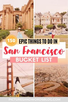 150 Amazing Things to Do in San Francisco (according to a local)   A Local's San Francisco Travel Guide   Things to Do in California   California Itinerary Inspiration   San Francisco Bucket List   San Francisco Travel Tips   150 Fun San Francisco Activities to Add to Your San Francisco Itinerary   San Francisco Photography   San Francisco Aesthetic   California Road Trip Inspiration California California, Northern California, Usa Travel, Travel Tips, San Francisco Pictures, San Francisco Travel Guide, European City Breaks, United States Travel, Rv Life