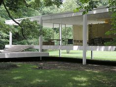 The original glass house. Mies van der Rohe's Farnsworth house. Amazing.