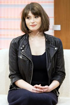 Gemma Arterton with a short bob and blunt bangs    HAIR   Pinterest     Gemma Arterton