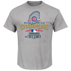 The Cubbies are the 2016 World Series Champions! Own a piece of history with this Chicago Cubs 2016 World Series Champions Locker Room T-Shirt from Majestic! This is the exact shirt that the players wore after they clinched this year's World Series! Chicago Cubs Shirts, Cubs Gear, Cubs Merchandise, Chicago Cubs World Series, Cubs Win, Kansas City Royals, Mens Tees, T Shirt, Grey Shirt
