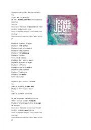 English worksheet: JONAS BLUE PERFECT STRANGERS WORKSHEET + KEY