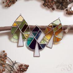 ガラスツリーのオーナメント (Green)|サンキャッチャー|ダブルオウエイト|ハンドメイド通販・販売のCreema