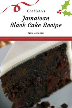 If you know anything at all about West-Indian Caribbean culture you already know that Jamaican Black Cake is a must have at Christmas time. Jamaican Fruit Cake, Jamaican Desserts, Jamaican Dishes, Jamaican Recipes, Black Cake Jamaican, Jamaican Carrot Cake Recipe, Jamaican Cuisine, Caribbean Black Cake Recipe, Caribbean Recipes