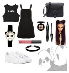 """Hello, it's Panda!"" by thisismegiusy on Polyvore featuring Oasis, adidas, MAC Cosmetics, Lancôme, NARS Cosmetics and Miss Selfridge"