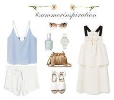 """""""summer inspiration"""" by martka67 on Polyvore featuring moda, MANGO, Diane Von Furstenberg, Gucci, Kate Spade i Essie"""