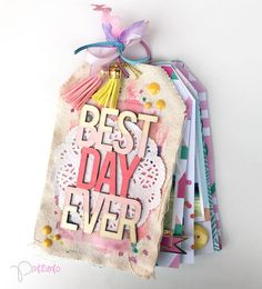 "Mad Scrap Project: Mini álbum ""Best Day Ever"" por: Pintitanto Mini Albums, Diy Mini Album, Mini Album Tutorial, Mini Album Scrapbook, Scrapbook Paper, Agenda Planning, Diy And Crafts, Paper Crafts, Mini Books"