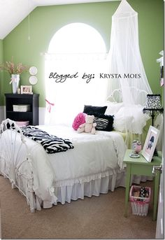 """Liberty has been begging for a """"zebra"""" room. I hate zebra decor! This is the first one I've seen that I would actually approve of. Very cute and subtle!"""