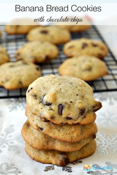 Banana Bread Cookies Recipe - a fun twist on the classic banana bread, these chocolate chip banana bread cookies are perfect for a sweet breakfast - or any time of day!