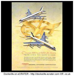 Convair 880 & 600 Jet-Liners Advert. From Interavia Magazine, 1959.