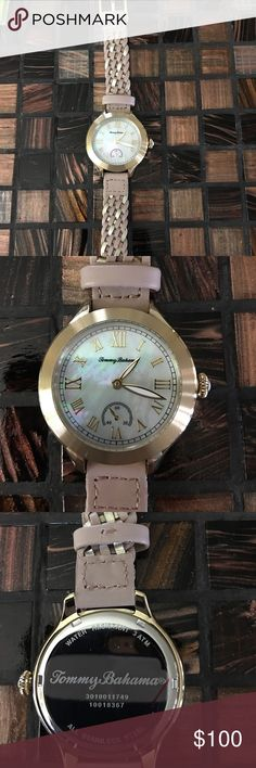 🏝Tommy Bahama Waikiki Dream Watch🏝 Be on island time with this super cute Tommy Bahama Watch.  Only worn once.  Roman Numeral Indexes, Three eye movement, and white mother of pearl dial.  Unfortunately don't have the box it came in but will ship in a box! Tommy Bahama Accessories Watches