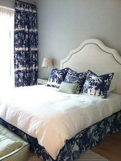 Interior Design by Alexis Hughes- Bedroom- China Seas- Lyford Background