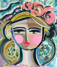 """Warrior Girl PRINT on paper or canvas woman art impressionist modern abstract girl """"Kelly"""" by Marendevineart on Etsy Original Paintings, Original Art, Acrylic Paintings, Harrison Design, Menu Printing, California Cool, Warrior Girl, Painting Inspiration, Color Inspiration"""