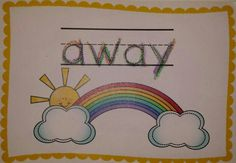 Rainbow writing to practice sight words!