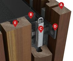 This page includes comprehensive technical information on our Sculptform Timber Click-on Battens system as well as the installation process. Exterior Wall Cladding, Timber Battens, Japanese Joinery, Arch Interior, Interior Architecture, Internal Design, Tv Wall Decor, Acoustic Panels, Wainscoting