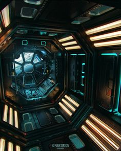 Kepler Station by ReneAigner outer space station spacecraft spaceship landscape location environment architecture Spaceship Interior, Futuristic Interior, Spaceship Design, Spaceship Concept, Science Fiction, Space Opera, Arte Alien, Sci Fi Environment, To Infinity And Beyond