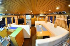 Lounge area aboard the Aileoita #Yacht Charter.
