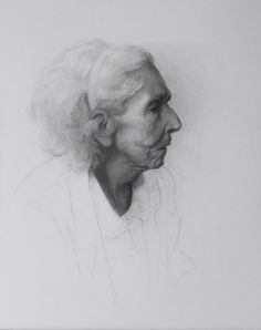 Camila Rocha; Graphite, 2012, Portrait of Grandmother at the age of 86