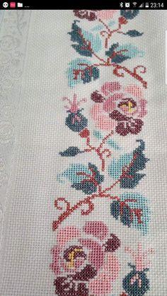 Cross Stitch Boarders, Cross Stitch Heart, Cross Stitch Cards, Cross Stitching, Cross Stitch Embroidery, Embroidery Patterns, Hand Embroidery, Cross Stitch Patterns, Palestinian Embroidery