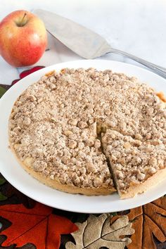 Apple Crumb Coffee Cake. This recipe makes too cakes - eat one now and freeze the other for later!