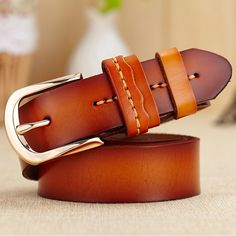 Fashion Women Belt Real Genuine Leather cintos femininos Luxury Alloy Female Straps Belts Accessories Pin Buckle Waistband W93
