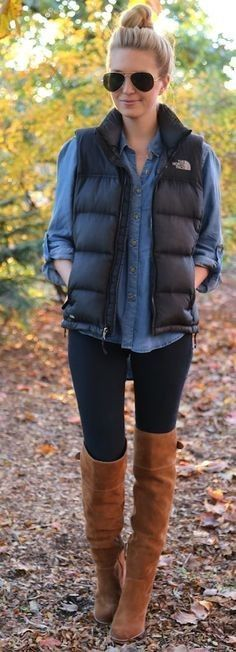 Picking out the perfect outfit is tricky any time of year, but finding a cute winter outfit is even harder. Too many layers and you're sweating before... #vestsoutfits