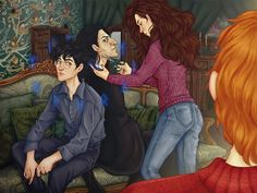 commission for ~BlacKety (an illustration to russian fic written by ~Doriana Gray) commission info Snape And Hermione, Professor Severus Snape, Harry Potter Severus Snape, Severus Rogue, Harry James Potter, Harry Potter Anime, Harry Potter Fan Art, Hermione Granger, Harry Potter Collection