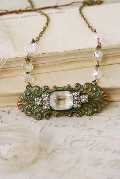 Modern Elegancevintage rhinestone crystal beaded by tiedupmemories, $36.00