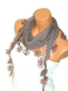 Personalized Design chocolate beige Scarf by WomanStyleStore, $14.00