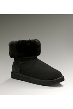 UGG Women's Sheepskin Black Classic Short Boots