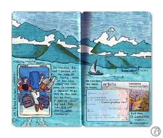 Travel journals or pages...like this by Anna Denise