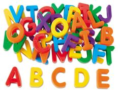 For the kids, on the magnet board, in the breakfast nook Magnetic Letters - Uppercase at Lakeshore Learning