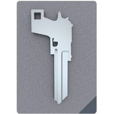 Gun shaped key