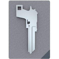 Gun shaped key